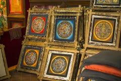 BHAKTAPUR, NEPAL -  Nepalese painting workshop. Royalty Free Stock Image