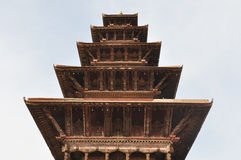BHAKTAPUR, NEPAL. One of the many temples in the town square of Bhaktapur in Nepal Stock Image