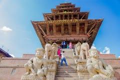 bhaktapur nyatapola寺庙 免版税图库摄影