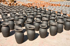 Bhaktapur Pots square Royalty Free Stock Image