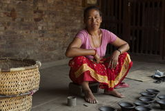 Bhaktapur Pottery Woman Stock Image