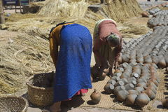 Bhaktapur Pottery Women Royalty Free Stock Photography