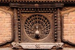 Bhaktapur stad i Nepal Arkivbild