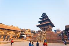 Bhaktapur Taumadhi Sq Nyatapola Pagoda Angled H Stock Photos