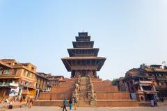 Bhaktapur Taumadhi Sq Nyatapola Pagoda Centered H Royalty Free Stock Photography
