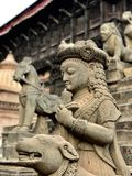 Stone Nepali temple carving Royalty Free Stock Photo