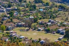 Bhalam村庄在尼泊尔 库存图片