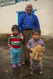 Bhandar. NEPAL — CIRCA OCTOBER 2013: villagers  circa October 2013 in Stock Images