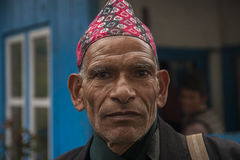 Bhandar. NEPAL — CIRCA OCTOBER 2013: villagers  circa October 2013 in Royalty Free Stock Image