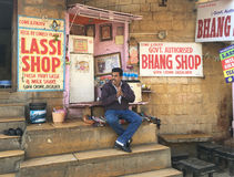 Bhang Lassi Shop, Jaisalmer, India Stock Photography