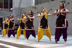 Bhangra Dancers Stock Images