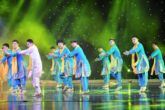 Bhangra taniec India Fotografia Royalty Free