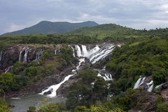 bhara chukki瀑布 库存照片