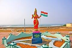 Bharat末多或母亲印度 免版税库存照片