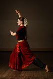 bharat舞蹈方次数natyam 免版税库存照片