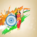 Bharat Mata (Mother India) for Indian Republic Day. Royalty Free Stock Images