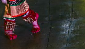 Foot, Ankles, Gejje- Bharatanatyam Carnatic music royalty free stock images