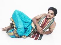 bharathanatyamdansaremanlig Royaltyfri Fotografi