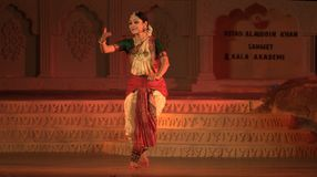 Bharatnatyam - The classical Indian dance Royalty Free Stock Photo