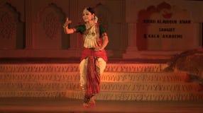 Bharatnatyam - de klassieke Indische dans royalty-vrije stock foto