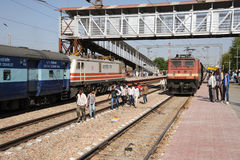 Bharatpur junction railway Rajasthan India. Royalty Free Stock Photo