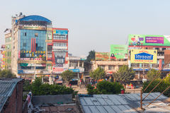 Bharatpur, Nepal. 30 Oct 2016: City buildings in Pulchowk, Naryangarh district on October 29, 2016 in royalty free stock image