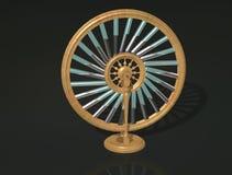 Bhaskara`s wheel. Perpetual motion machine. Perpetuum mobile. Physics. vector illustration