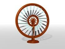 Bhaskara`s wheel. Perpetual motion machine. Perpetuum mobile. Physics. royalty free illustration