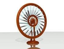 Bhaskara` s wiel Eeuwige motiemachine Mobiele Perpetuum fysica vector illustratie
