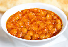 Bhatura de Chola - bhature de chole - nourriture indienne Image stock