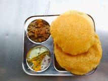Bhature Chhole стоковое фото rf