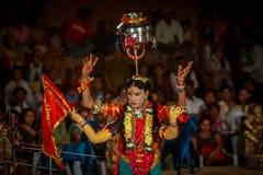 Bhavai表现 免版税图库摄影