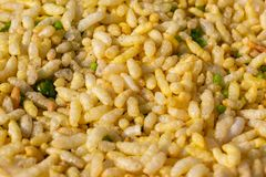 Bhel Puri close up view royalty free stock image