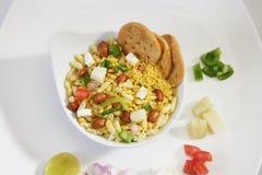 Bhel Puri, Indische Snack royalty-vrije stock afbeeldingen