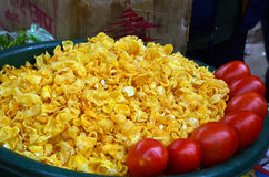 Bhell puri in indian street food. A spicy food can be easily find in indian street. just a mouth mouth food, famous of its ingredient . we call it bhelpuri Royalty Free Stock Image