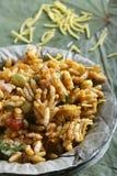 Bhelpuri - een straatvoedsel populair in Noord-India Royalty-vrije Stock Foto