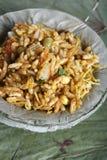 Bhelpuri - een straatvoedsel populair in Noord-India Royalty-vrije Stock Foto's