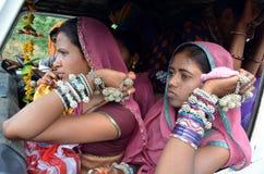 Bhil stamflicka i Indien Royaltyfria Foton