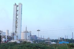 Bhilai Steel Plant, Bhilai. Chhattishgarh. The Bhilai Steel Plant BSP, located in Bhilai, in the Indian state of Chhattisgarh, is India`s first and main producer royalty free stock image