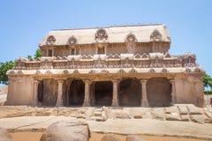 Bhima Ratha, μνημείο πέντε rathas, Mahabalipuram, Tamil Nadu, Ινδία Στοκ Εικόνες