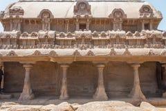 Bhima Ratha, πέντε rathas, Mahabalipuram, Tamil Nadu, Ινδία Στοκ φωτογραφία με δικαίωμα ελεύθερης χρήσης