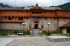 Bhimakali寺庙复合体在Sarahan,喜马偕尔省,印度 免版税库存图片
