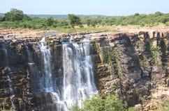 Bhimlat Mahadev waterfall. Near Bundi, Rajasthan - India Royalty Free Stock Image