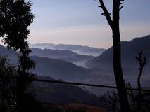 Bhimtal jeziora widok fotografia stock