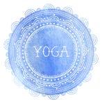 Böhmischer Mandala- und Yogahintergrund mit rundem Lizenzfreie Stockbilder