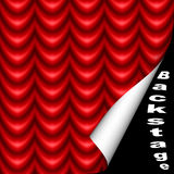 Bühne hinter dem Vorhang Stockbild