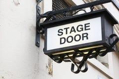 Bühnentürzeichen Lizenzfreie Stockfotos