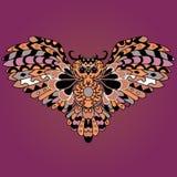 Búho coloreado de alta calidad para el tatuaje o ilustration aislado Imagen de archivo