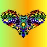 Búho coloreado de alta calidad para el tatuaje o ilustration aislado Imagen de archivo libre de regalías