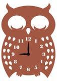 Búho del reloj de pared Foto de archivo